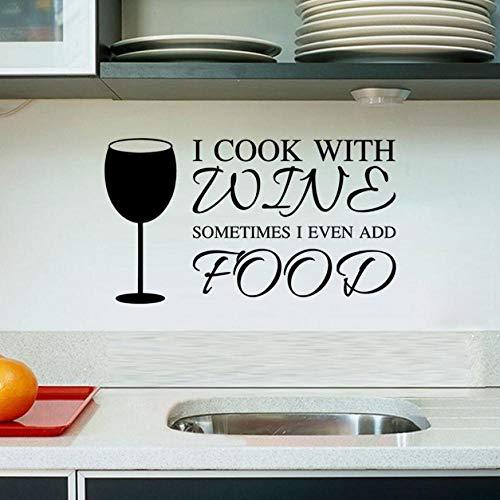Schönes Leben Einfach Zu Einfügen Vinyl Wandaufkleber Küchenutensilien Geschirr Wein Pferd Fuß Tasse Dekoration