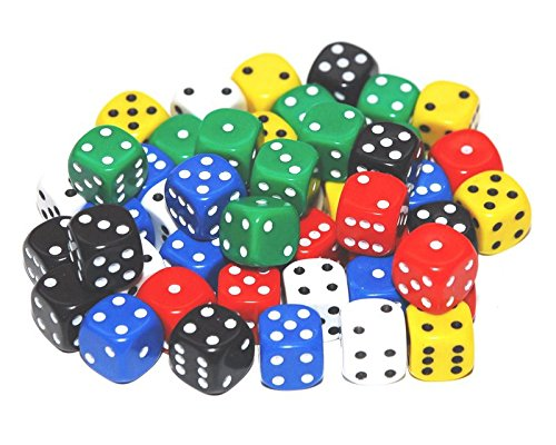 BigCherry - Dice, 50 x 12mm Round Corner Spot - Mixed by DICE AND GAMES -
