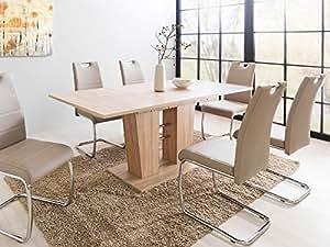 esszimmertisch esstisch auszugstisch ausziehtisch tisch esszimmer bomuli i sonoma eiche. Black Bedroom Furniture Sets. Home Design Ideas