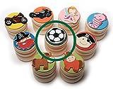 Inware 23309 - Milchzahndose aus Holz, Motiv Fußball