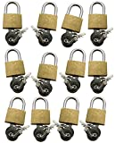 Am-tech T0790 20 mm Brass Padlock (12-Piece)