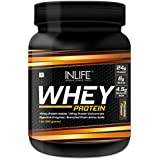 Inlife Whey Protein Powder With Isolate Digestive Enzymes - 454 Grams (Chocolate, 1Lb)
