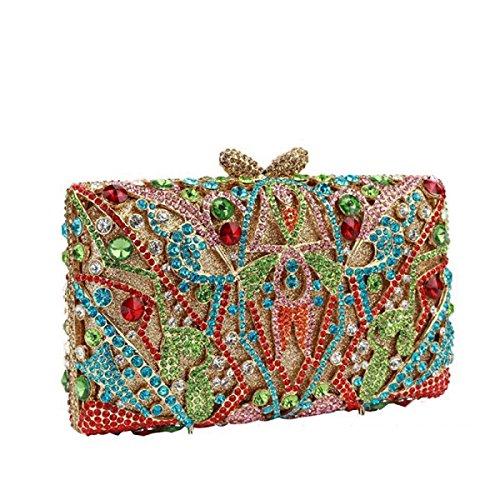 High OneColor End Handtasche Abend handgemachten Frauen Diamanten R4qaUZw