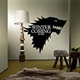 Global Brands Online T-5 Game Of Thrones Stark Familie Emblem Ice Wolf Wandaufkleber Gravierte Wandaufkleber