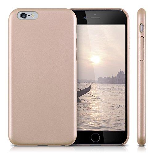 kwmobile Hülle für Apple iPhone 6 / 6S - Kunstleder Case Handy Schutzhülle - Backcover Cover Beige .Rosegold