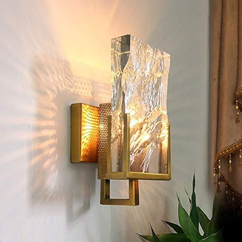 ZSAIMD Moderne Kristall Wandleuchte 1 Licht E14 Edison Messing Room Art Decor Leuchten Beleuchtung für Schlafzimmer Wohnzimmer Lesen Dekoration Leuchten Beleuchtung Kreative Wandleuchte - 1-licht-kristall-wandleuchte
