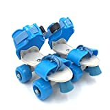 #5: Tavakkal Roller Skates for Kids Age Group 5-10 Years Adjustable Inline Skating Shoes (Blue)