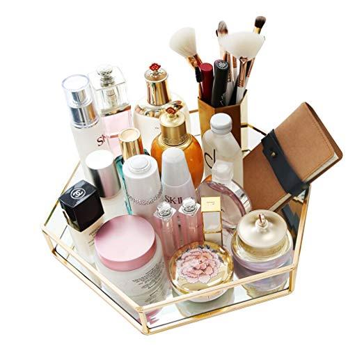 Boîte de Rangement en Verre pour Maquillage, Cosmétiques, Vernis À Ongles, Papeterie, Artisanat, Porte-pinceau À Maquillage, Bijoux