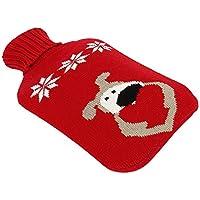 Wärmflasche mit abnehmbarem Strickbezug für Weihnachten, 2 l preisvergleich bei billige-tabletten.eu