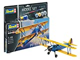 Revell Model Set- Maquette-Stearman PT-17 Kaydet, 63957, 1:48 Scale