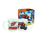 A2Z 4 Kids Kids Blaze Tazza in confezione regalo, porcellana, rosso, 9x 8x 8cm