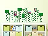 graz-design Wandtattoo Bilderrahmen Blumen-Wiese   Format für 10x15cm und 15x10cm   klebe Deine Fotos direkt an Fotowand (150x57cm//823 antique violet)