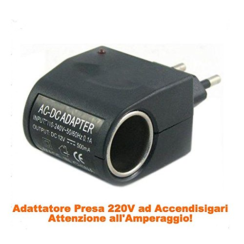 takestop® ADATTATORE AC/DC SPINA 220V - 450mAh ACCENDISIGARI AUTO