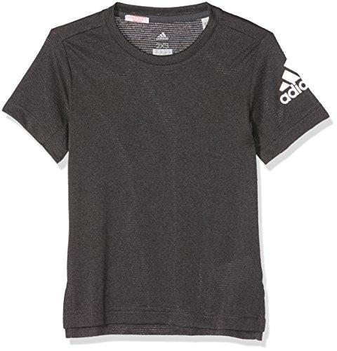 Heathered T-shirt (adidas Jungen Heathered Training T-Shirt, Grefiv/Gretwo/Black, 164)