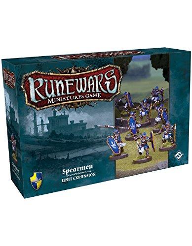 Fantasy Figuren Miniatur (Fantasy Flight Games ffgrwm07Runewars Miniaturen Spiel Spearmen Erweiterungsset)