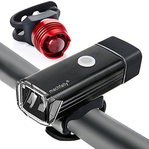 Blinkt Ecke (LED Fahrradbeleuchtung Set, USB Wiederaufladbare LED Fahrradlicht Set, Fahrradlampe Set inkl, LED Frontlichter Frontlich und Rücklicht, 70 Lux Akku USB Aufladbare Fahrradlichter)