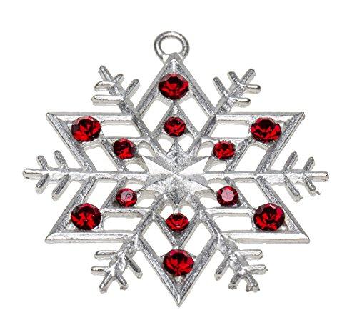 Schnabel-Zinn Stern + Straßsteine Weihnachtsanhänger