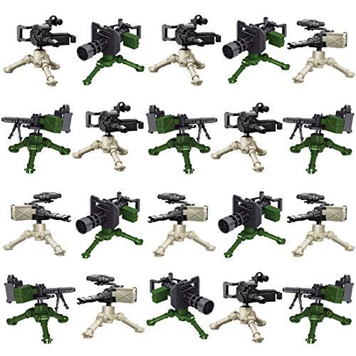 15000P 20St. Custom Waffen Set für SWAT Team Polizei Soldaten Mini Figuren, passen zum Lego