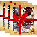 3x Senseo Geschenkset, 4-tlg, Café Latte & Cappuccino Choco + Kakaostreuer & Schablone