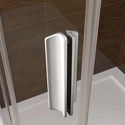 100 x 185 cm Nischentür Duschtür Schiebetür Duschabtrennung Duschwand aus 6mm ESG Sicherheitsglas Klarglas ohne Duschtasse - 5