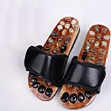 NIGHT WALL Womens Slides,Men's Pebble Foot Massage Slippers Foot Therapy Shoes Couple Slip-Proof Sandals Women's Slippers,2,35