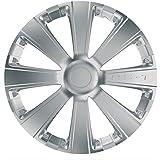 Car Plus 8050RSB RST Silver - Juego de 4 tapacubos de alta calidad color plateado, 16 Pulgadas