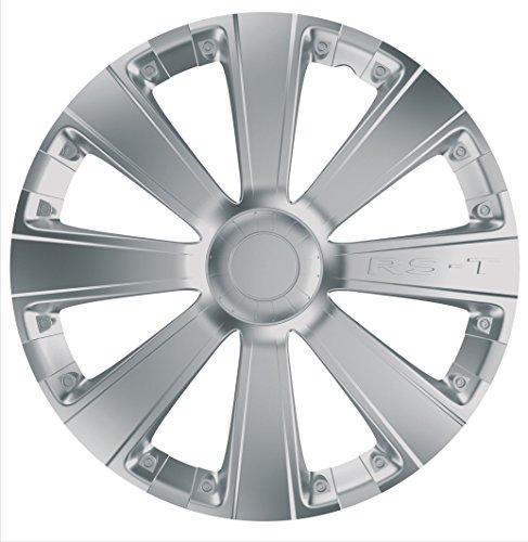 Car Plus 8050RSB RST Silver - Juego de 4 tapacubos de alta calidad color plateado,
