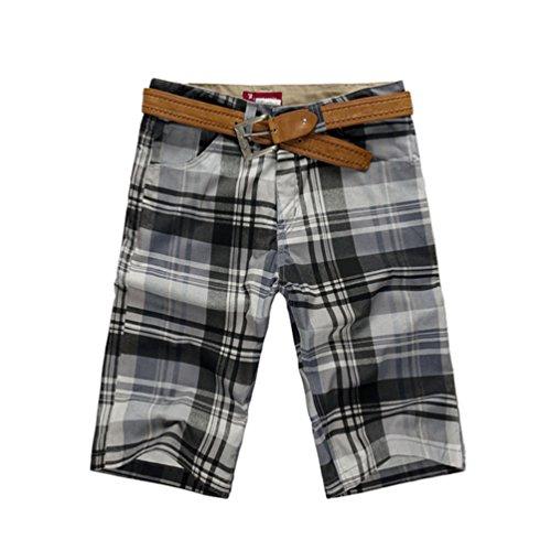 Xinwcang Herren Bermuda Karo Shorts Casual Chino Kurze Hosen Sport Freizeithose Cargohose Badeshorts Als Bild3 38 (Casual Karo-short)