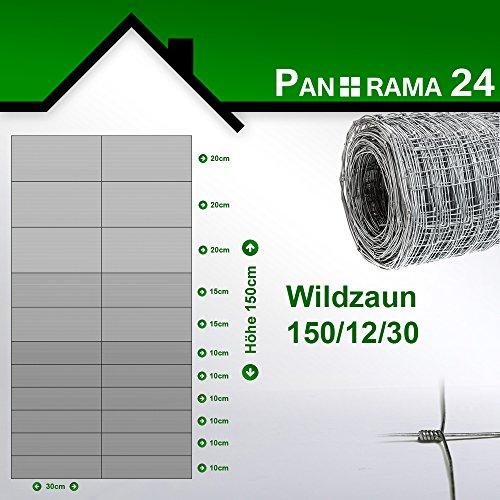 *Wildzaun Forstzaun Weidezaun Rollenware Verzinkt 150/12/30 50m*