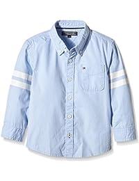 TOMMY HILFIGER KIDS - Special Oxford Shirt L/S, Camisa de niños, azul, 16