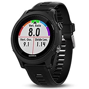 Garmin Forerunner 935 Bluetooth Black sport watch - sport watches (Black, Polymer, Water resistant, Silicone, Glass, 5 ATM)