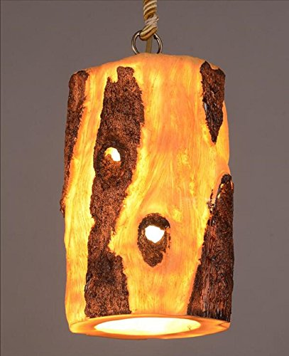 AMZH Retro industrielle hängende Lampe Restaurant Bar kreative Kronleuchter Kostüm Cafe Farbe Baum Eimer Pendelleuchten E27 (Diy Spider Kostüm)