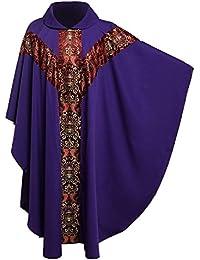221ef23866b BESSUME Sacerdote Celebrante Casulla católico Iglesia Padre Masa  Vestimentas R obe con Bordado