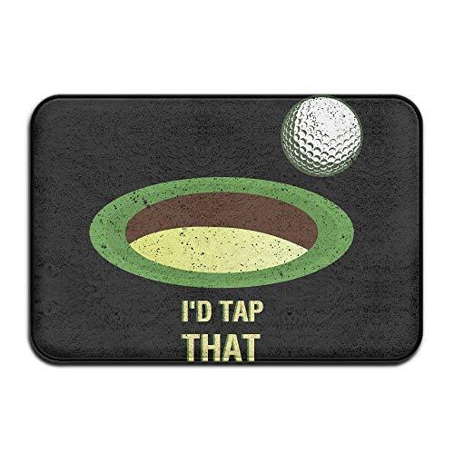 Rghkjlp Parody Athletic Fit I'd Tap That Golf Nice zerbinos Indoor Door Mats - Square D Trennen