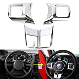 Generic Chrome Steering Wheel Cover Frame Trim Molding For Jeep Wrangler JK 2011-2015