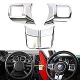 Generic Chrome Steering Wheel Cover Frame Trim Molding For Jeep Wrangler JK 2011-2015