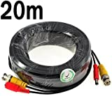 KKmoon 20M / 65.6 Feet BNC Video Power Cable For CCTV Camera DVR Security System (20M)