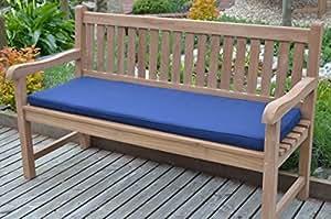 3 sitzer 1 4m klassische gartenbank kissen kissen nur blau. Black Bedroom Furniture Sets. Home Design Ideas