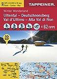 Winter Wonderland Ultental - Deutschnonsberg: Cartina Invernale Val d'Ultimo / Alta Val di Non (Winter-Wanderkarten)