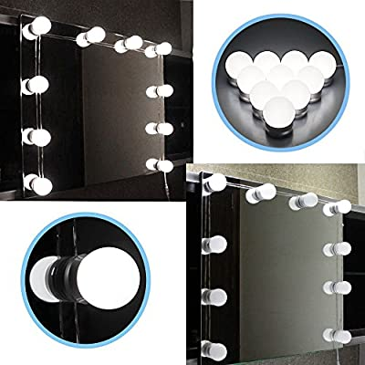 Chende Hollywood Style LED Vanity Mirror Lights Kit with Dimmable Light Bulbs, Lighting Fixture Strip for Makeup Vanity Table Set in Dressing Room - cheap UK light store.