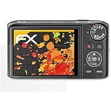 atFoliX Schutzfolie für Canon PowerShot SX240 HS Displayschutzfolie - 3 x FX-Antireflex blendfreie Folie