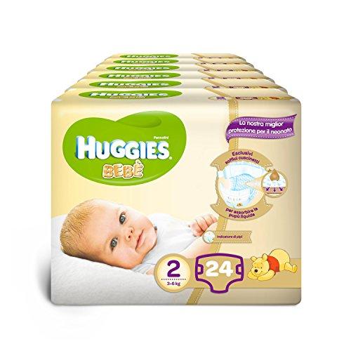 Huggies-Pannolini-Beb-Taglia-2-3-6-kg-6-Confezioni-da-24-144-Pannolini