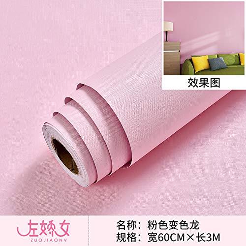 haut fonctionnaire chaussures authentiques produits chauds Papier peint autocollant de mur de papier peint de mur de papier peint de  chambre à coucher 0.6m * 3m rose