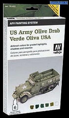 Vallejo Model Color Armour Colour Set - AFV Army Olive Drab