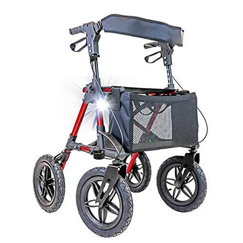 Rollator aus Aluminium Crosser mit Rädern perfekt für Gelände und Outdoor-Aktivitäten.