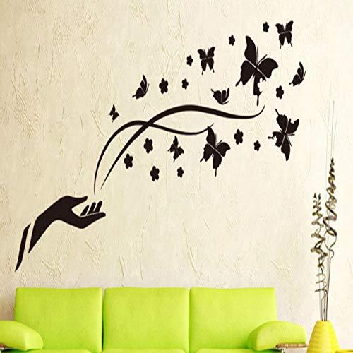 Jiuyaomai Patrón Mariposa Creativo Simple Vinilo