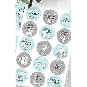 15 Aufkleber*Sticker*Ostern*Häschen*Geschenkaufkleber*5 cm*