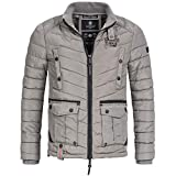 Marikoo GARTOSO Herren Winterjacke Parka Übergangs Jacke warm gesteppt Gr. S-XXXL, Größe:XXL, Farbe:Grau