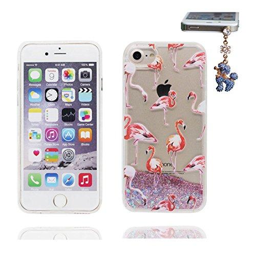 """iPhone 6S Coque, Skin Hard Clear étui iPhone 6 / 6S, Design Glitter Bling Sparkles Shinny Flowing iPhone 6 Case Shell Cover 4.7"""", résistant aux chocs et Bouchon anti-poussière talon hauts # 4"""