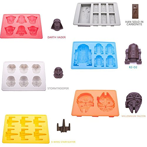 e Cube Tablett CANDY Form Schokolade Fondant für Star Wars Lover ()